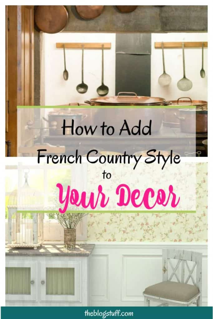French country style decorating ideas and tips. Rustic French decor accessories to transform your home into a country retreat.