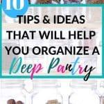 Cheap ways to organize a pantry