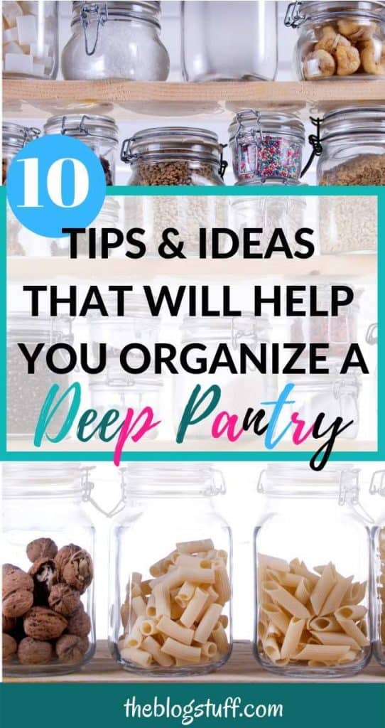 Cheap ways to organize a pantry with deep shelves