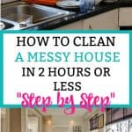 Dirty kitchen and clean kitchen - How to clean a messy house step by step