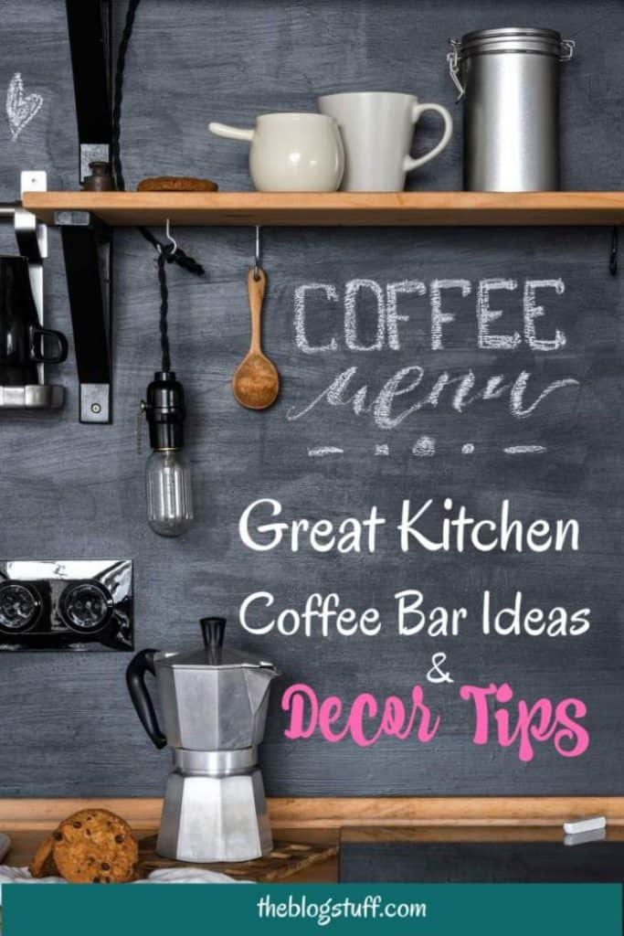 Kitchen coffee bar ideas and decor tips. Learn how to set up a DIY coffee station at home