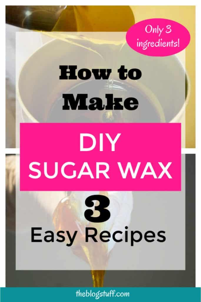 Make your own DIY sugar wax at home with these 3 easy to make recipes with lemon and without lemon. You only need 3 ingredients and no strips. Ready?