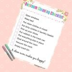 Bedroom cleaning checklist printable