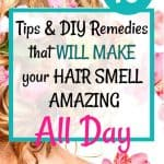 woman with blonde hair and flowers - How to make your hair smell good all day