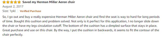 Amazon computer chair cushion review