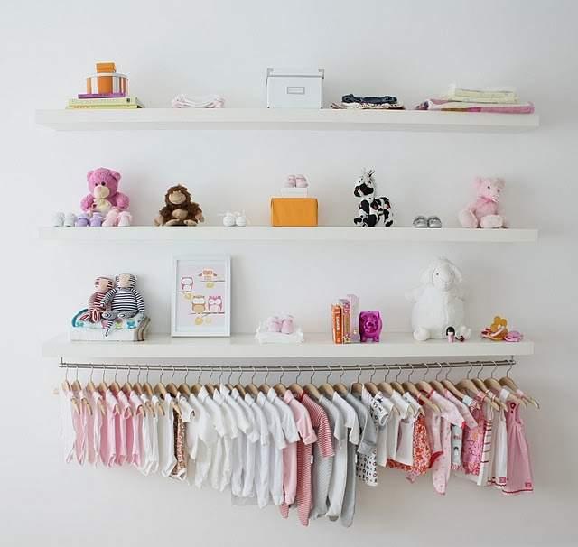 No closet baby organization clothes