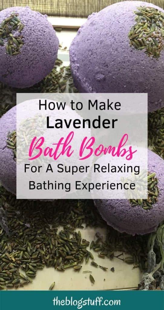 DIY lavender bath bomb recipe