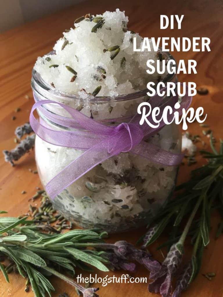 DIY lavender sugar scrub recipe