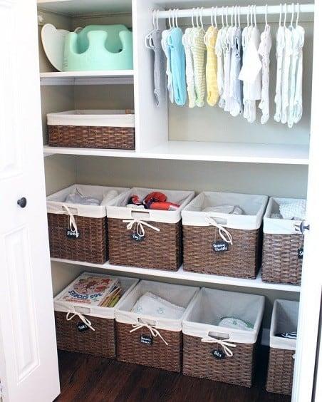 Baby closet storage ideas and organization hacks