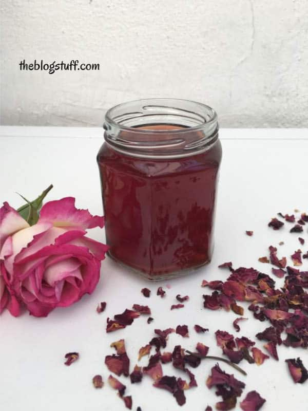 Easy homemade rose water recipe
