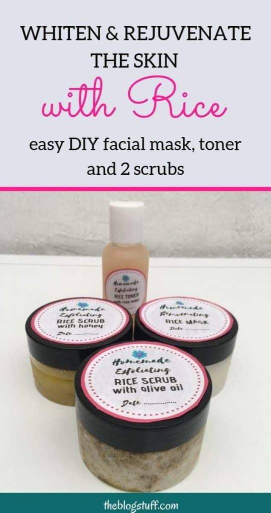 Homemade rice face mask to whiten and lighten the skin