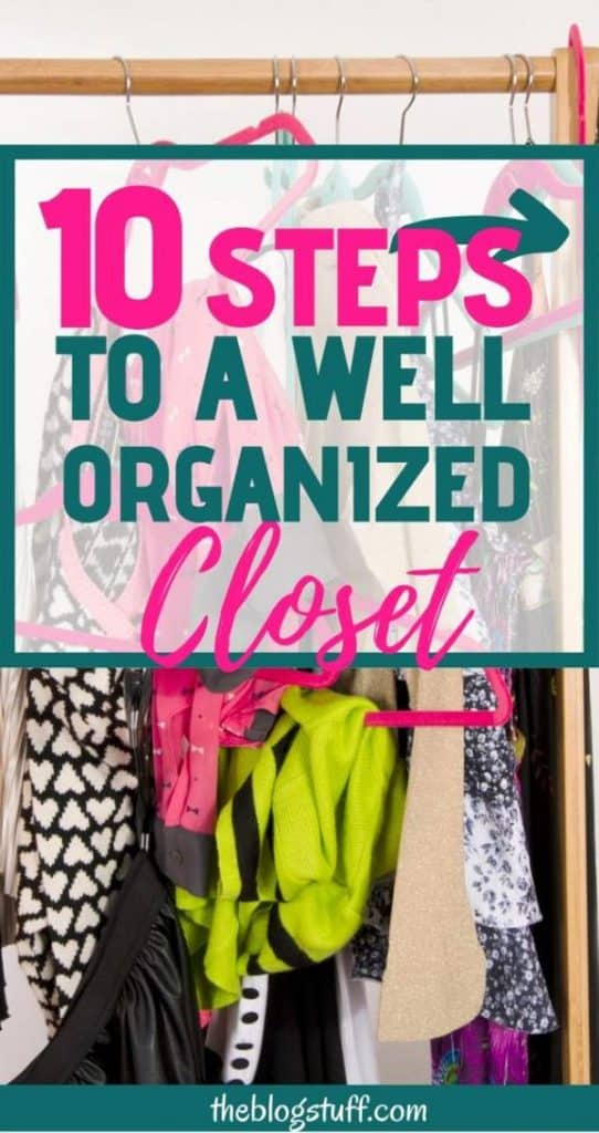 Closet organization hacks and storage ideas
