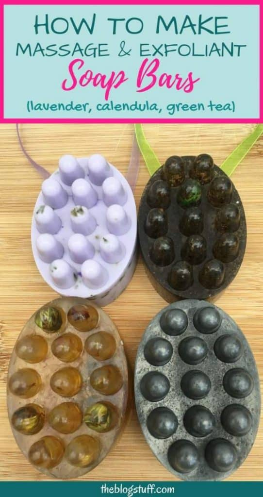 How to make massage and exfoliating soap bars