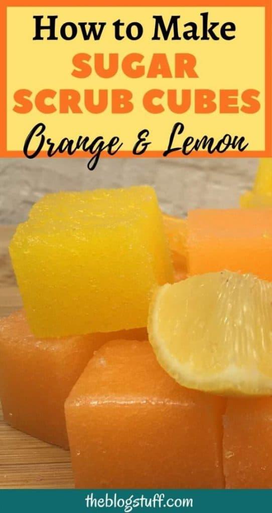 How to make sugar scrub cubes with lemon and orange essential oils