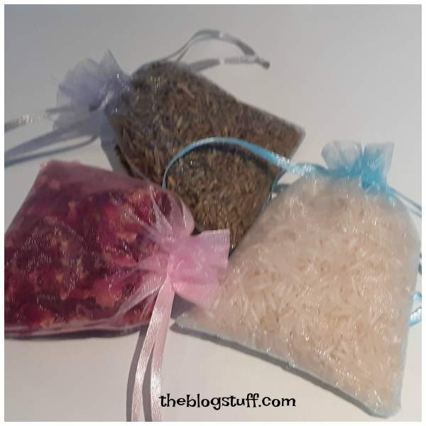 Diy scented drawer bags