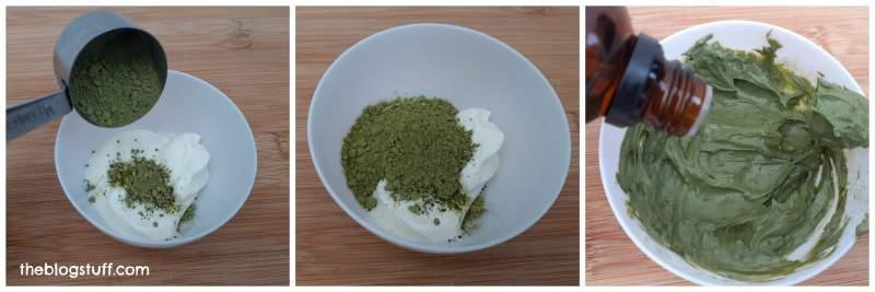 DIY matcha green tea face mask to brighten the skin