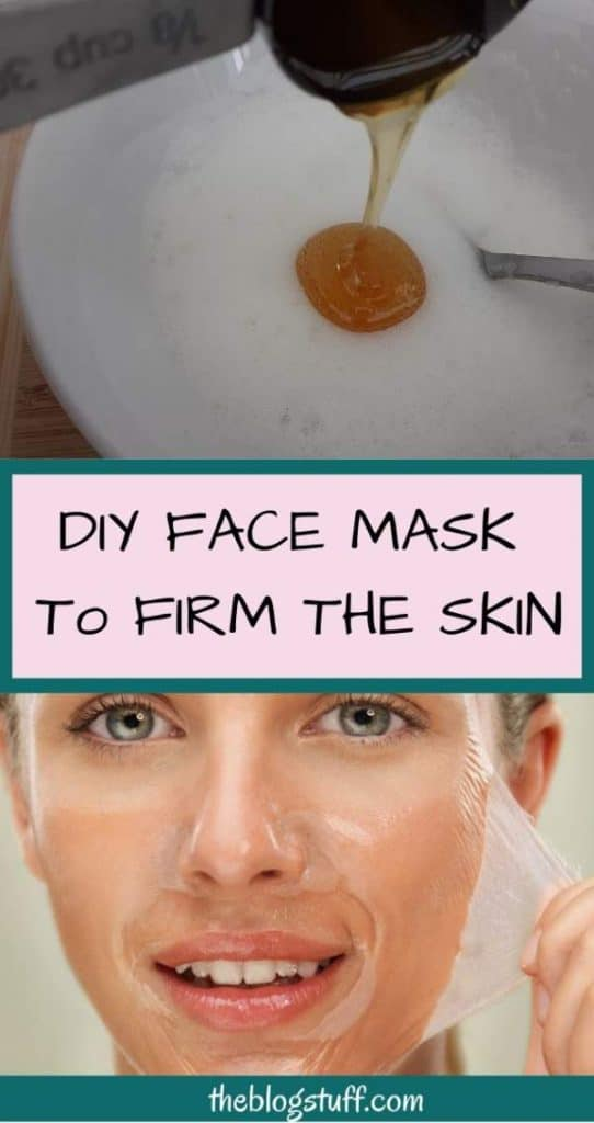 Homemade facelift mask