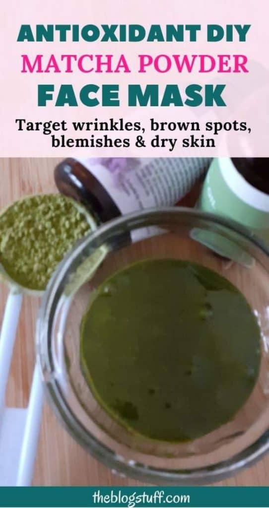 DIY matcha powder face mask recipe