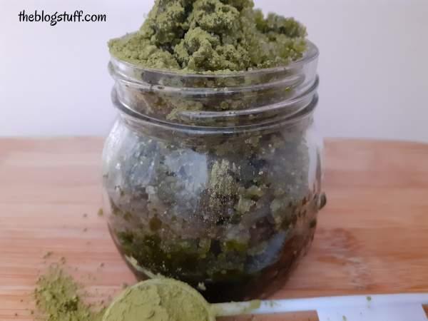 Matcha body scrub recipe