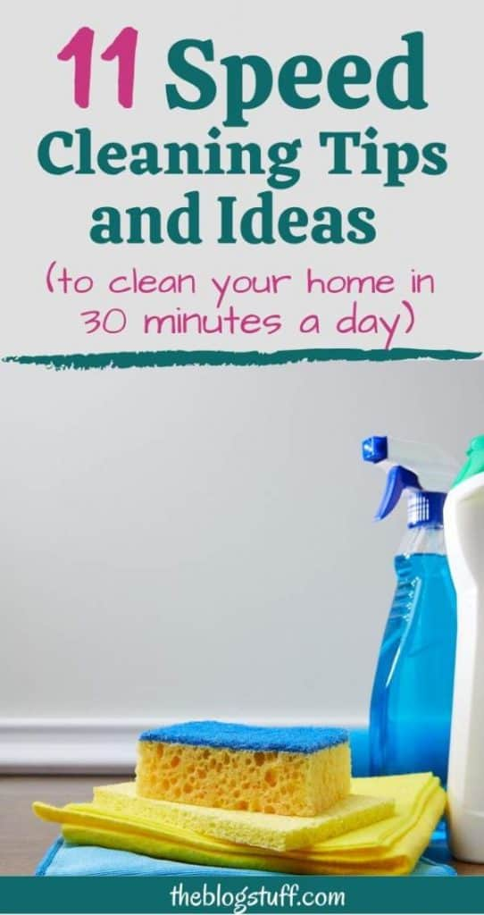 How to clean a house faster
