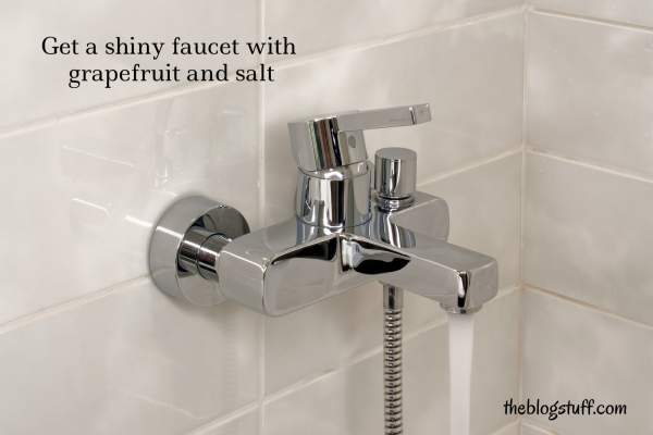 How to make faucet shiny naturally