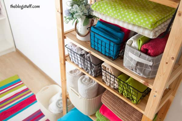 Ways to store linens without a linen closet