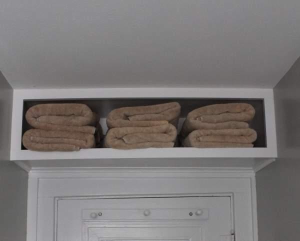 Above the door storage idea