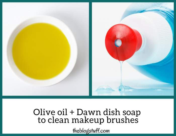 How to clean makeup brushes with dawn