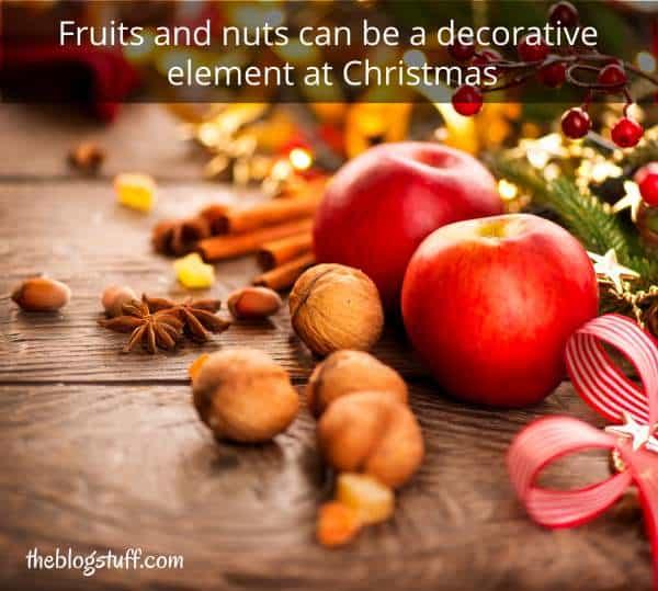 Fruits and nuts farmhouse Christmas decor ideas