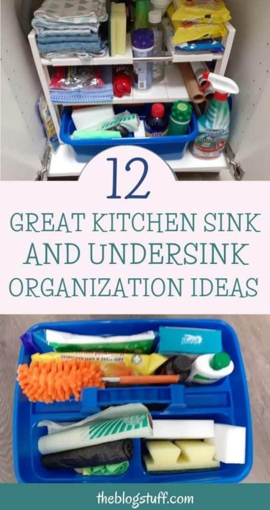 How to organize under the sink kitchen