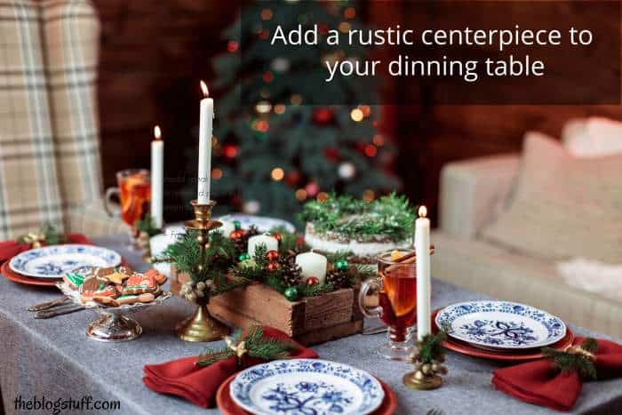 Rustic centerpiece Christmas decor ideas