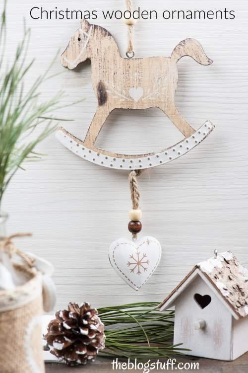 Christmas wooden ornaments farmhouse style