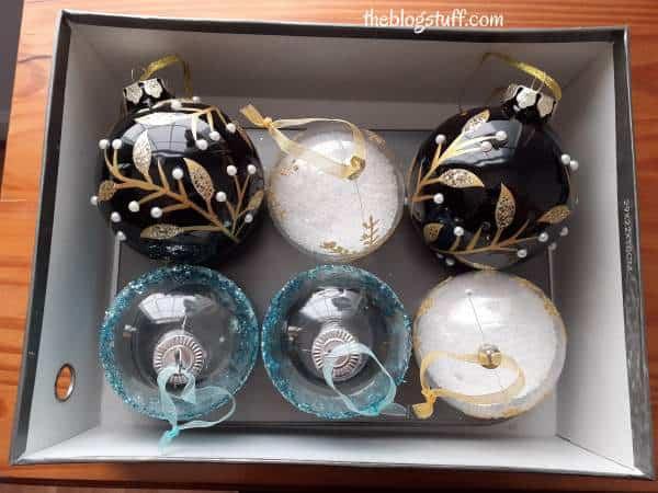 Storing fragile Christmas ornaments