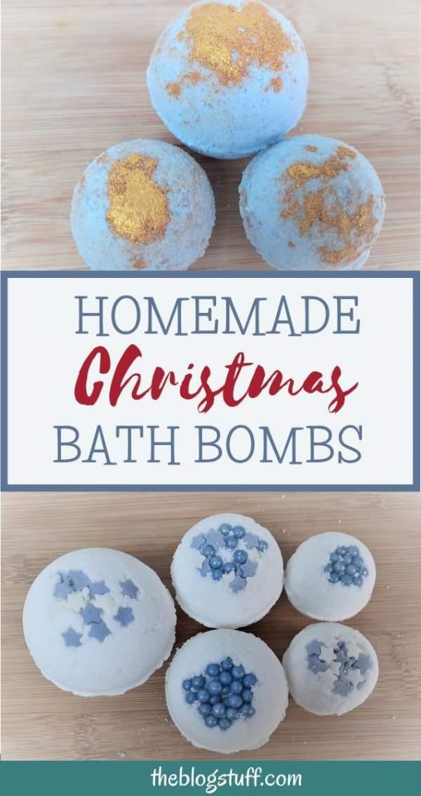 diy christmas bath bombs