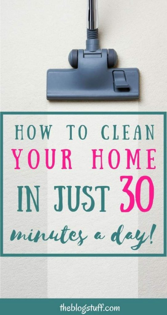 Clean your home in 30 minutes